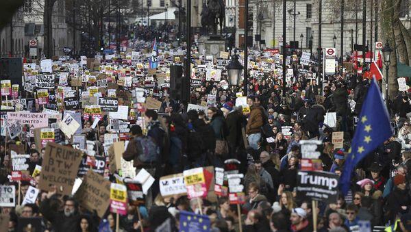 Londra'da Trump karşıtı eylem - Sputnik Türkiye