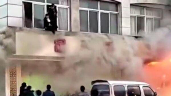Çin masaj salonu yangın - Sputnik Türkiye