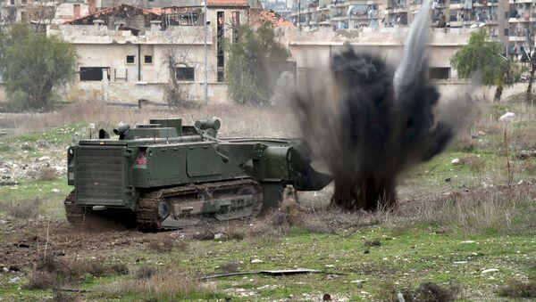 Halep'te Mayın Eylem Merkezi - Sputnik Türkiye