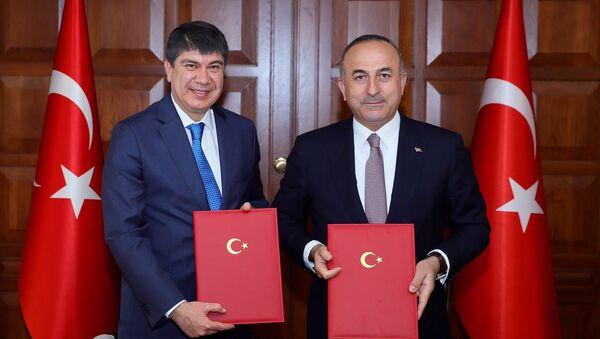 Mevlüt Çavuşoğlu ve Menderes Türel - Sputnik Türkiye