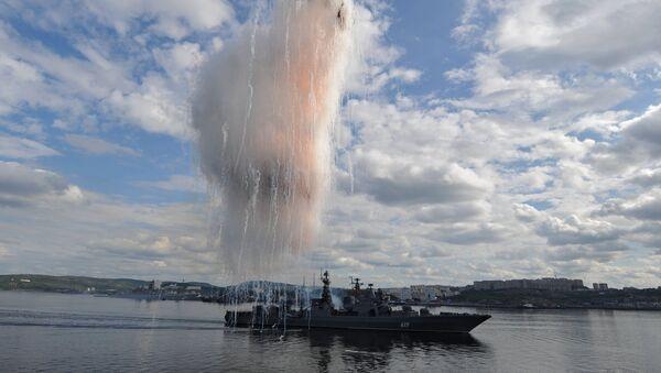 Rusya Kuzey Donanması'na ait Severomorsk adlı gemi - Sputnik Türkiye