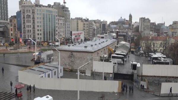Taksim'deki cami alanında şantiye hazırlıklarına başlandı - Sputnik Türkiye