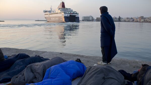 Yunanistan - Sakız adası / Sığınmacı - Sputnik Türkiye