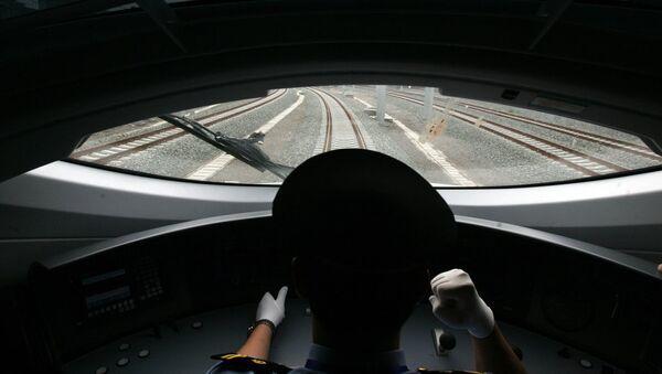Çin'den bir hızlı tren görüntüsü - Sputnik Türkiye