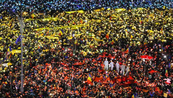 Romanya'da hükümet karşıtı protestolar - Sputnik Türkiye