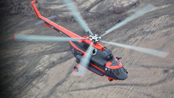 Arktik koşullarında görev yapabilen Mi-8AMTSh-VA helikopteri. - Sputnik Türkiye