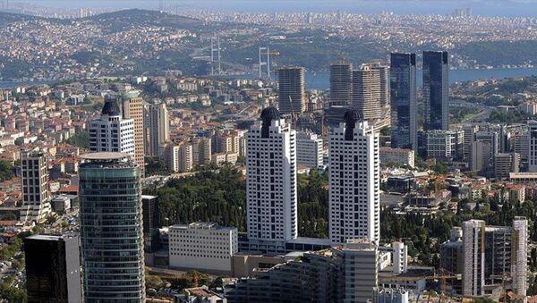 İstanbul'daki iş merkezlerinin yoğunlaştığı gökdelenler - Sputnik Türkiye