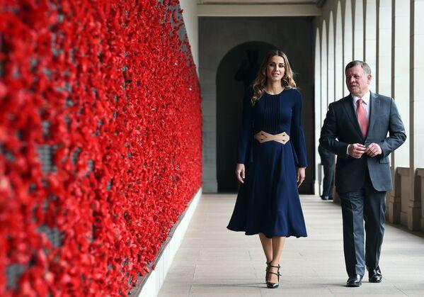 Ürdün Kralı Abdullah ve eşi Kraliçe Rania - Sputnik Türkiye