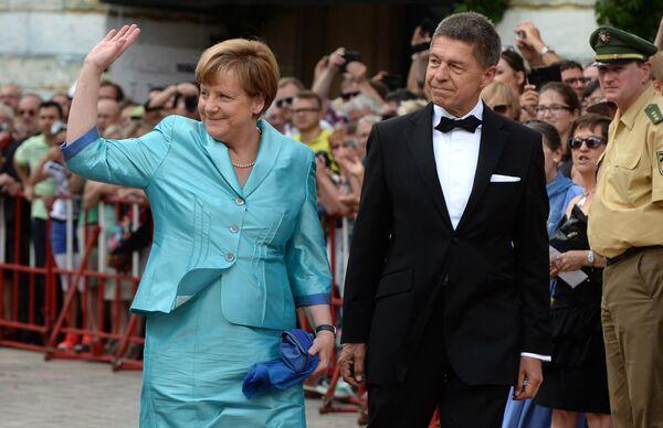 Almanya Başbakanı Angela Merkel ve eşi Joachim Sauer - Sputnik Türkiye