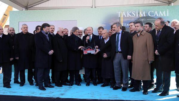 Taksim Camii temel atma töreni - Sputnik Türkiye