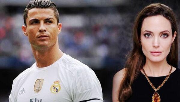 Cristiano Ronaldo ve Angelina Jolie - Sputnik Türkiye