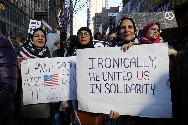 Bugün ben de Müslümanım eylemi - Sputnik Türkiye