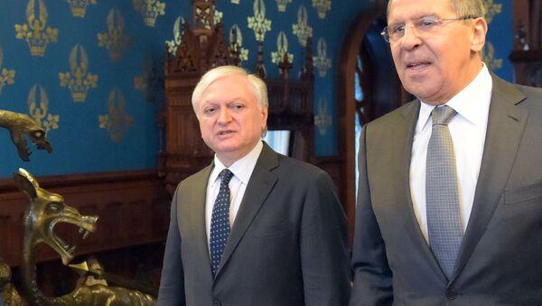 Rusya Dışişleri Bakanı Sergey Lavrov- Ermenistan Dışişleri Bakanı Eduard Nalbandyan - Sputnik Türkiye