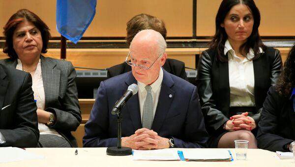 BM Suriye özel temsilcisi Staffan de Mistura - Sputnik Türkiye