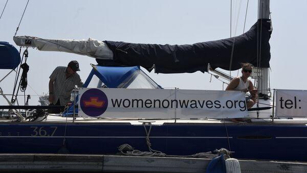 Dalgalardaki Kadınlar adlı sivil toplum örgütünün Guatemala'daki kürtaj teknesi - Sputnik Türkiye