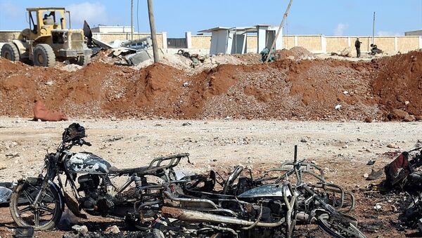 El Bab yakınlarında düzenlenen IŞİD saldırısı - Sputnik Türkiye