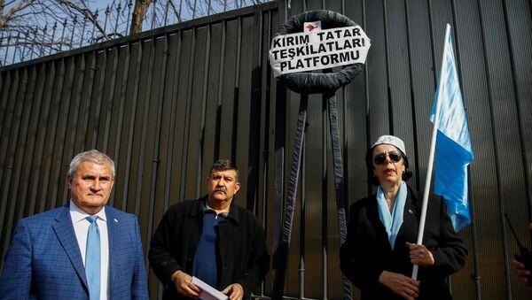 Kırım Tatarları Rusya'yı protesto etti - Sputnik Türkiye