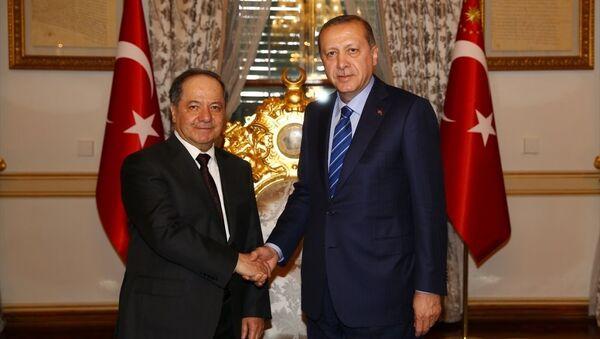 Recep Tayyip Erdoğan - Mesud Barzani - Sputnik Türkiye
