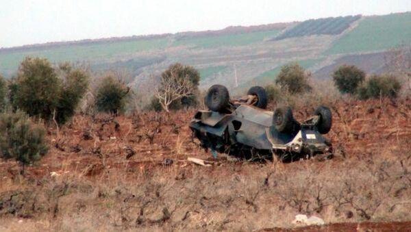 Kilis'te zırhlı araç devrildi - Sputnik Türkiye