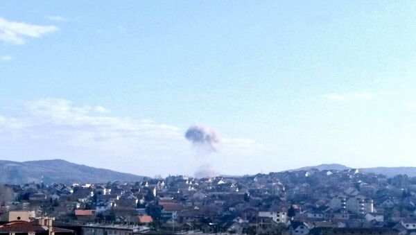 Sırbistan'da patlama ve yangın - Sputnik Türkiye