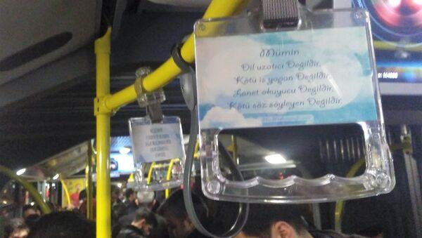 İETT otobüslerindeki ayetli ve hadisli tutamaklar. - Sputnik Türkiye