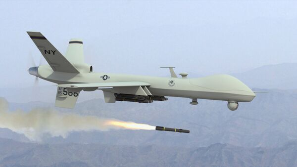 ABD'ye ait bir İnsansız Hava Aracı (İHA) - Sputnik Türkiye