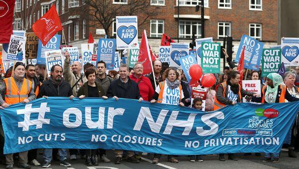 Londra'da NHS protestosu - Sputnik Türkiye