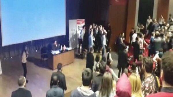 Sinan Oğan'ın katıldığı konfrensta olay çıktı - Sputnik Türkiye
