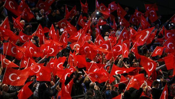 Başbakan Binali Yıldırım'ın Almanya'daki mitingi - Sputnik Türkiye