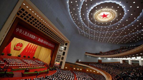 12. Çin Ulusal Halk Kongresi (ÇUHK) 5. Dönem yıllık toplantılarının açılış oturumu - Sputnik Türkiye