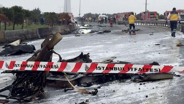 Büyükçekmece'de helikopter düştü - Sputnik Türkiye
