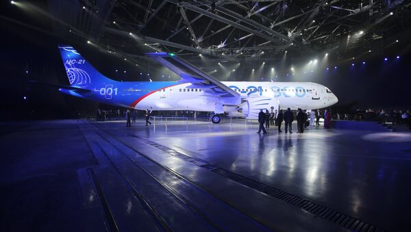 Presentation of MC-21-300 mid-range aircraft at the Irkutsk Aircraft Plant (Irkut Corporation) - Sputnik Türkiye