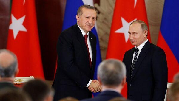 Türkiye Cumhurbaşkanı Recep Tayyip Erdoğan, Moskova'da  - Sputnik Türkiye