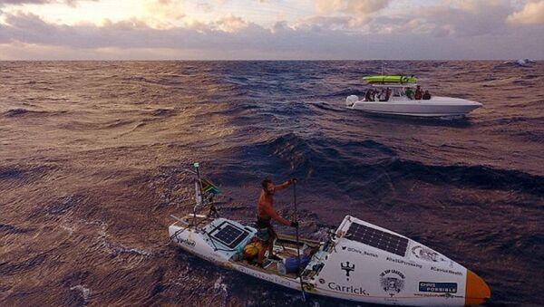 Kürekli tekneyle Atlas Okyanusu'nu geçti - Sputnik Türkiye
