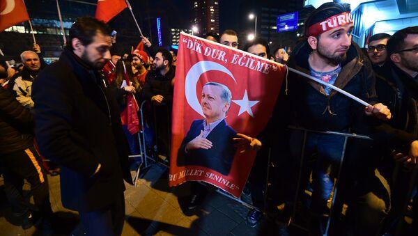 Hollanda'nın Ankara Büyükelçiliği önünde protesto - Sputnik Türkiye