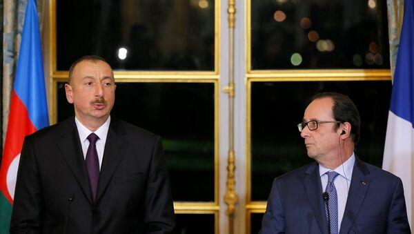 François Hollande -  İlham Aliyev - Sputnik Türkiye