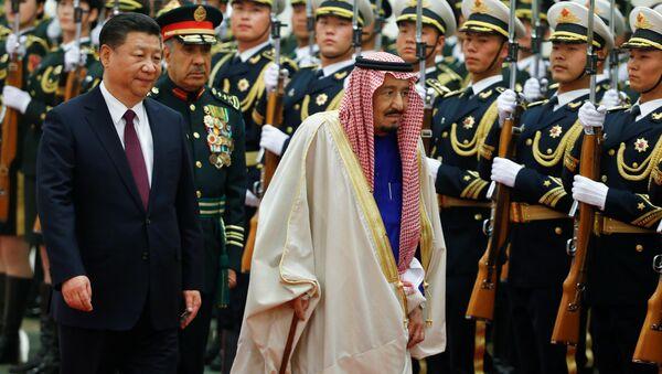 Suudi Arabistan Kralı Selman Bin Abdülaziz- Çin Devlet Başkanı Şi Cinping - Sputnik Türkiye