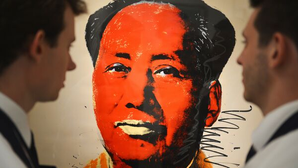Sanatçı Andy Warhol'un ünlü Mao portresi - Sputnik Türkiye