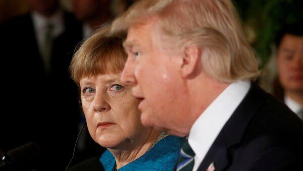 Almanya Başbakanı Merkel ile ABD Başkanı Trump - Sputnik Türkiye