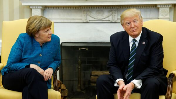 Donald Trump - Angela Merkel - Sputnik Türkiye