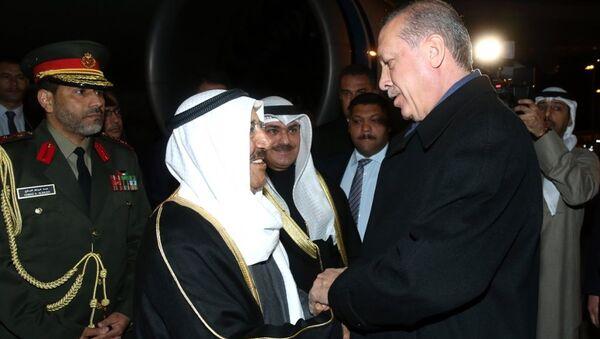 Kuveyt Emiri Şeyh Sabah Ahmed Cabir el Sabah, Cumhurbaşkanı Recep Tayyip Erdoğan - Sputnik Türkiye