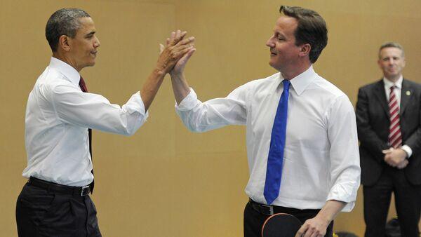 David Cameron - Barack Obama - Sputnik Türkiye