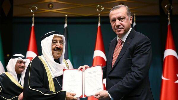 Kuveyt Emiri el Sabah'a Devlet Nişanı - Sputnik Türkiye