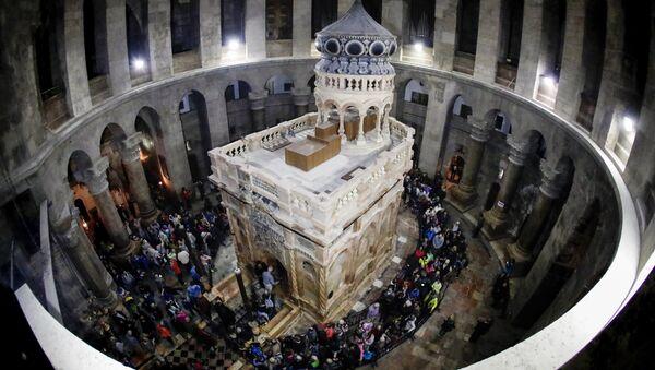 Hz. İsa'nın Kudüs'teki Kutsal Kabir Kilisesi'ndeki mezarı - Sputnik Türkiye