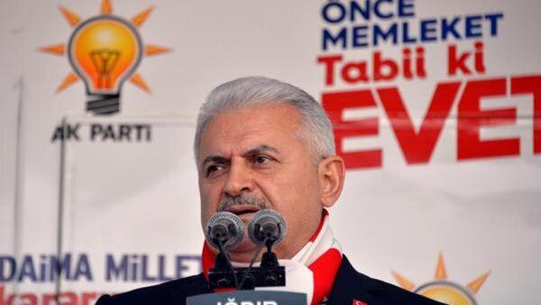 Başbakan Binali Yıldırım Iğdır mitinginde - Sputnik Türkiye
