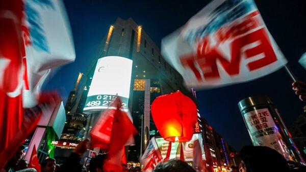 AK Parti'den lazerli Evet kampanyası - Sputnik Türkiye