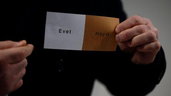 Anayasa değişikliği referandumu / Oy pusulası - Sputnik Türkiye