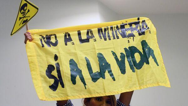 El Salvador'da maden karşıtı bir eylemci - Sputnik Türkiye