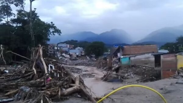 Kolombiya'nın Mocoa kentinde toprak kayması - Sputnik Türkiye