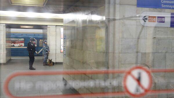 St. Petersburg metrosunda patlama / Sennaya Ploşad istasyonu - Sputnik Türkiye
